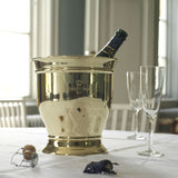 CHAMPAGNE & WINE COOLER, BRASS