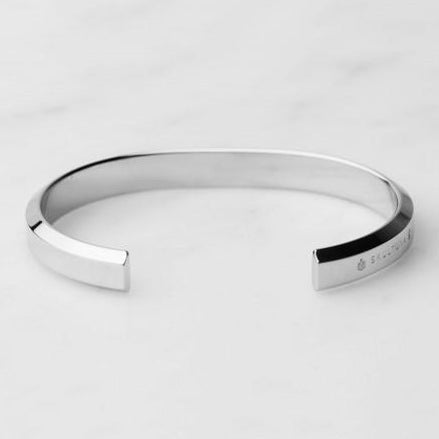 BRACELET ICON CUFF POLISHED STEEL