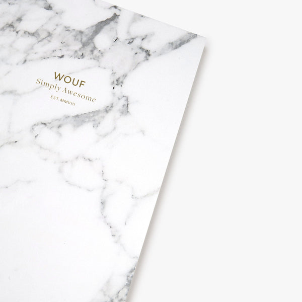 A6 NOTEBOOK, WHITE MARBLE