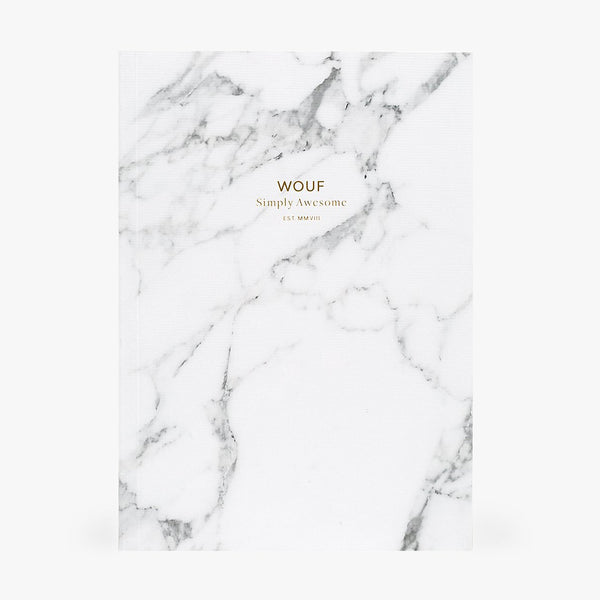 A5 NOTEBOOK, WHITE MARBLE