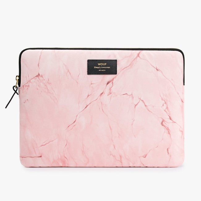 "LAPTOP CASE, 13"", PINK MARBLE"