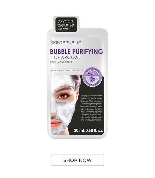 Bubble Purifying + Charcoal Face Mask - Skin Republic