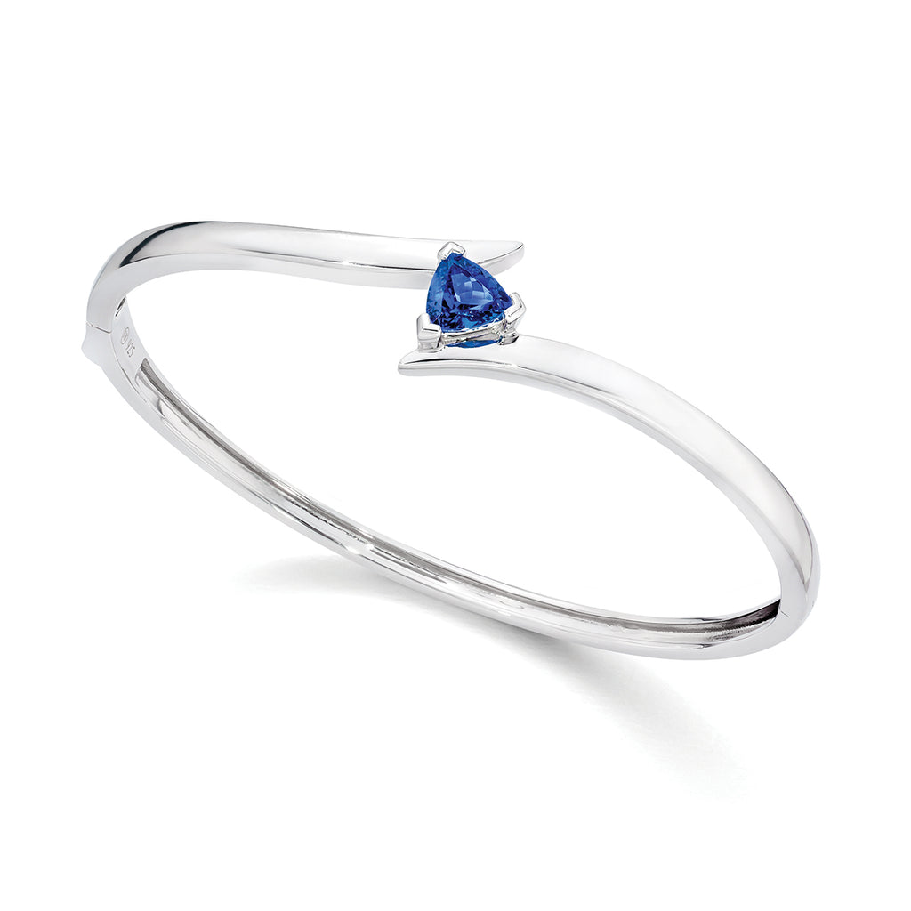 tanzanite cut bangle sterling silver