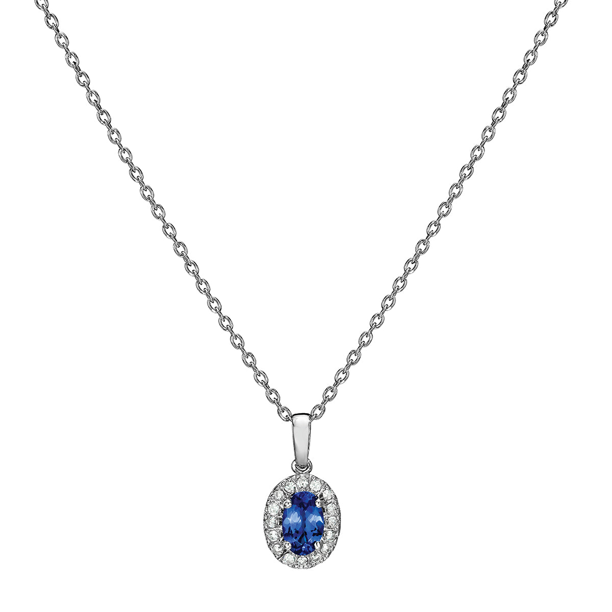 image pendants chain tanzanite diamond white pendant ramsdens jewellery and gold