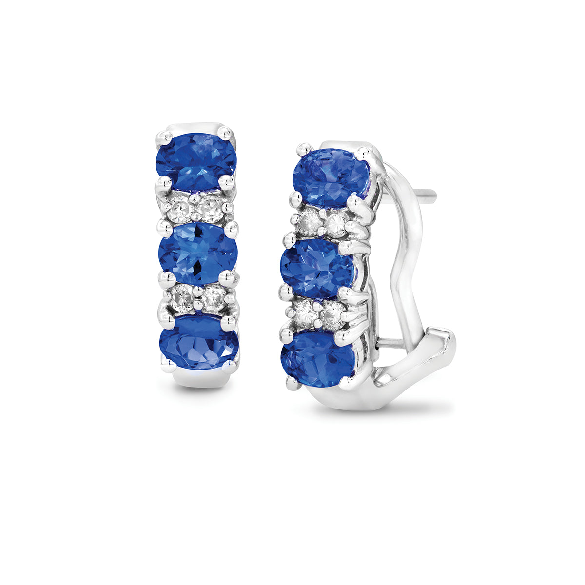 Safi Kilima Tanzanite & Diamond Earrings in Sterling Silver (1.05 ctw)