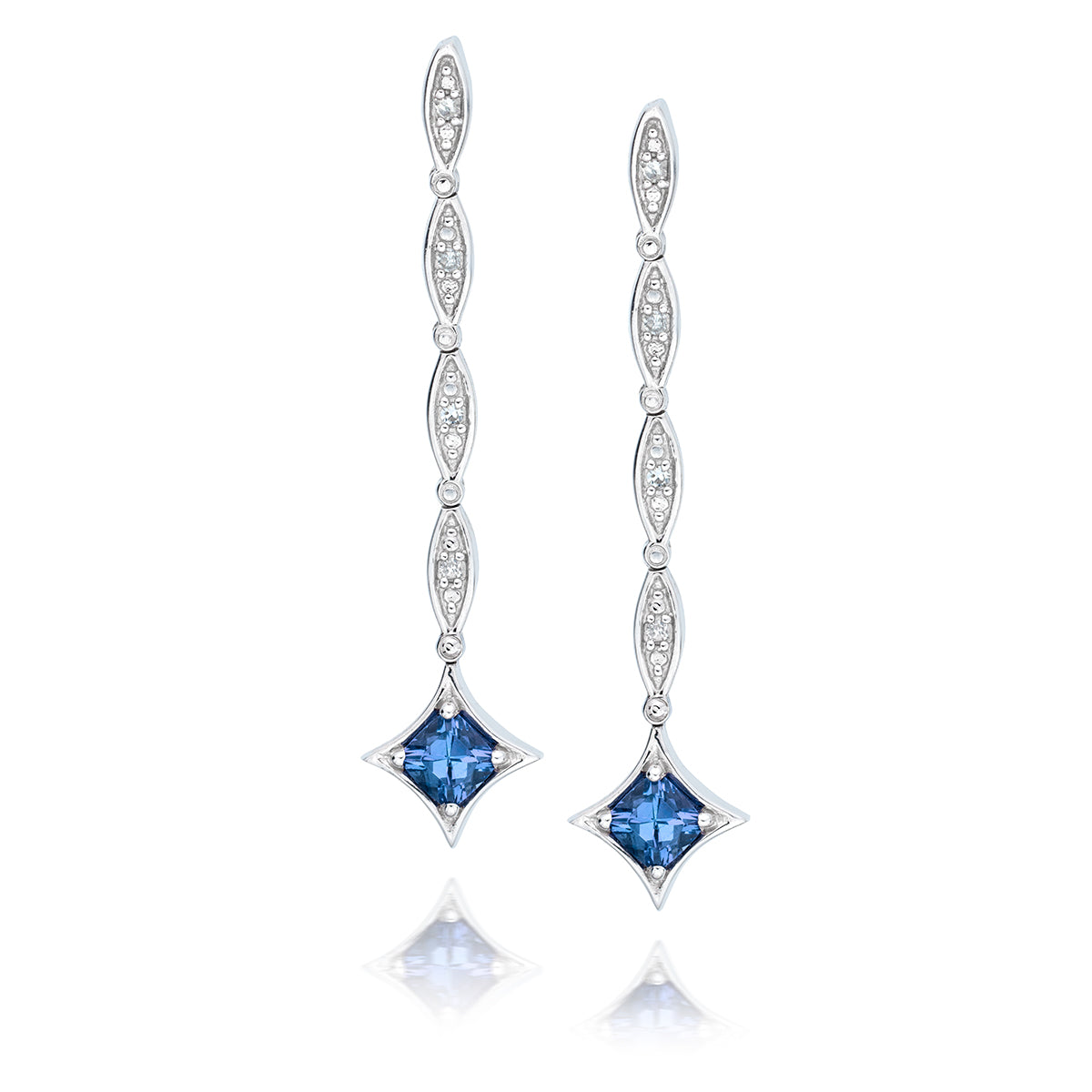 64a5e9f44 Day to Night Tanzanite Earrings in Sterling Silver (.62 ctw) – Safi ...