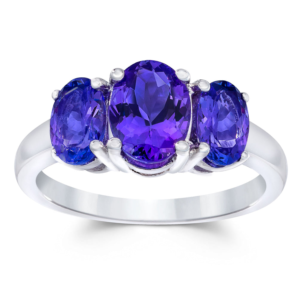 Safi Kilima Tanzanite Three Stone Ring