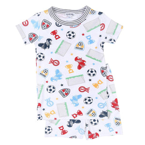 Light Blue Soccer Champ Short Pajama