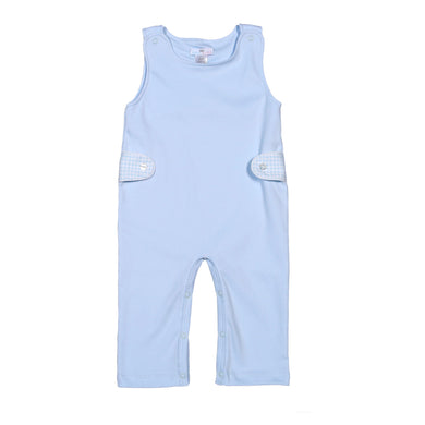 PETER BLUE GINGHAM PIMA OVERALLS