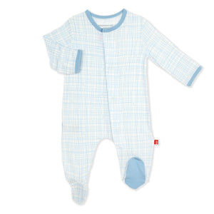 Greenwich Plaid Modal Magnetic Footie