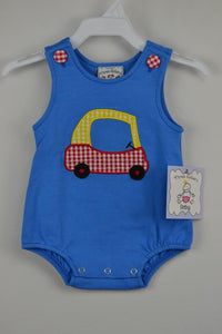Tiny Car Boys Applique Bubble