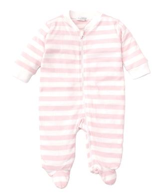 Kissy Kissy Broad Stripes Footie with Zip - Pink