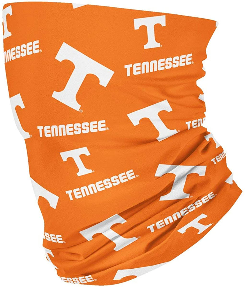 Tennessee All Over Logo Orange Neck Gaiter - One Size Fits All
