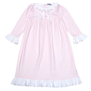 PINK GINGHAM PIMA NIGHT GOWN