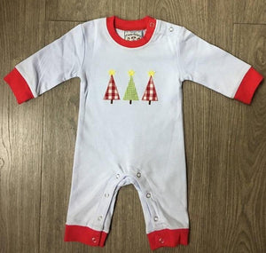 Oh Christmas Tree Boys Applique Romper