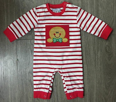 Gingerbread Boys Applique Romper