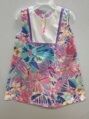 Plumeria V-Neck Shift Dress
