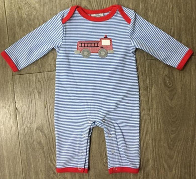 Firetruck Boys Applique Romper