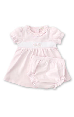 Kissy Kissy Hand Embroidered Dress Set - Pink Premier Cottontails
