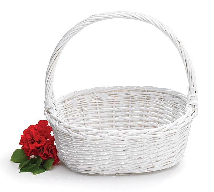 Oval White Willow Easter Basket