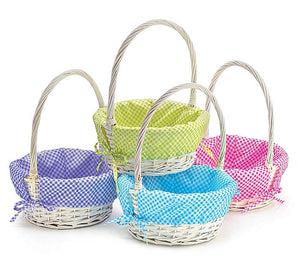 Bright Gingham Monogrammed Easter Baskets