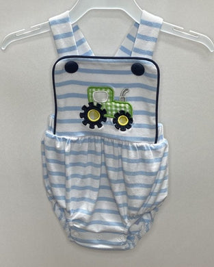 Tractor Applique Boys Sunsuit
