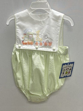 Animal Train Boys Sunsuit