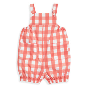 bella bliss Harrison Romper - Coral Check