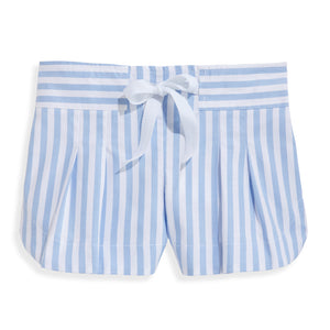 bella bliss Whitley Short - Blue Wide Oxford Stripe