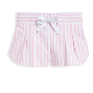 bella bliss Whitley Short - Pink Wide Oxford Stripe