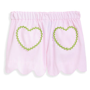 bella bliss Heart Pocket Short - Pink Pique