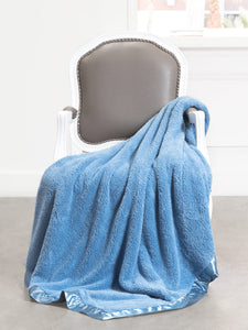 CHENILLE THROW - Cornflower