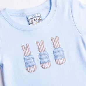 Bunnies Boys Applique Romper