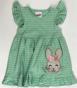 Bunny Applique Dress - Mint