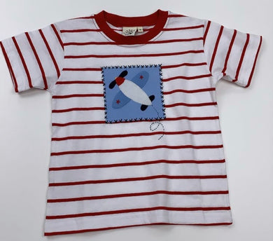 Airplane Patch Stripe Tee