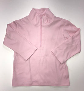 COOPER ZIPPER SHIRT - KNIT SOLID SOFT PINK JACKET WITH ZIPPER