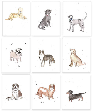 Set of 9 Puppy Dog Prints