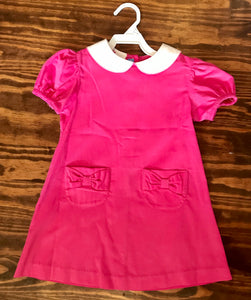 Hot Pink Corduroy A Line Dress