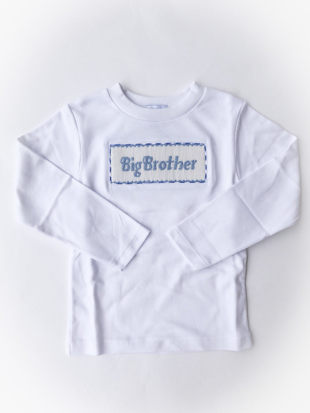 Big Brother Smocked White Knit Long