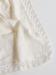 Lace Edged Swaddle