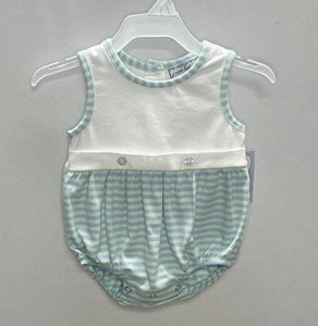 Noah Knit Bubble - Mint & Blue Stripe