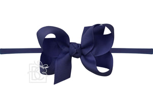 "3.5 "" Medium Pantyhose Headband Bow (Multiple Colors Available)"