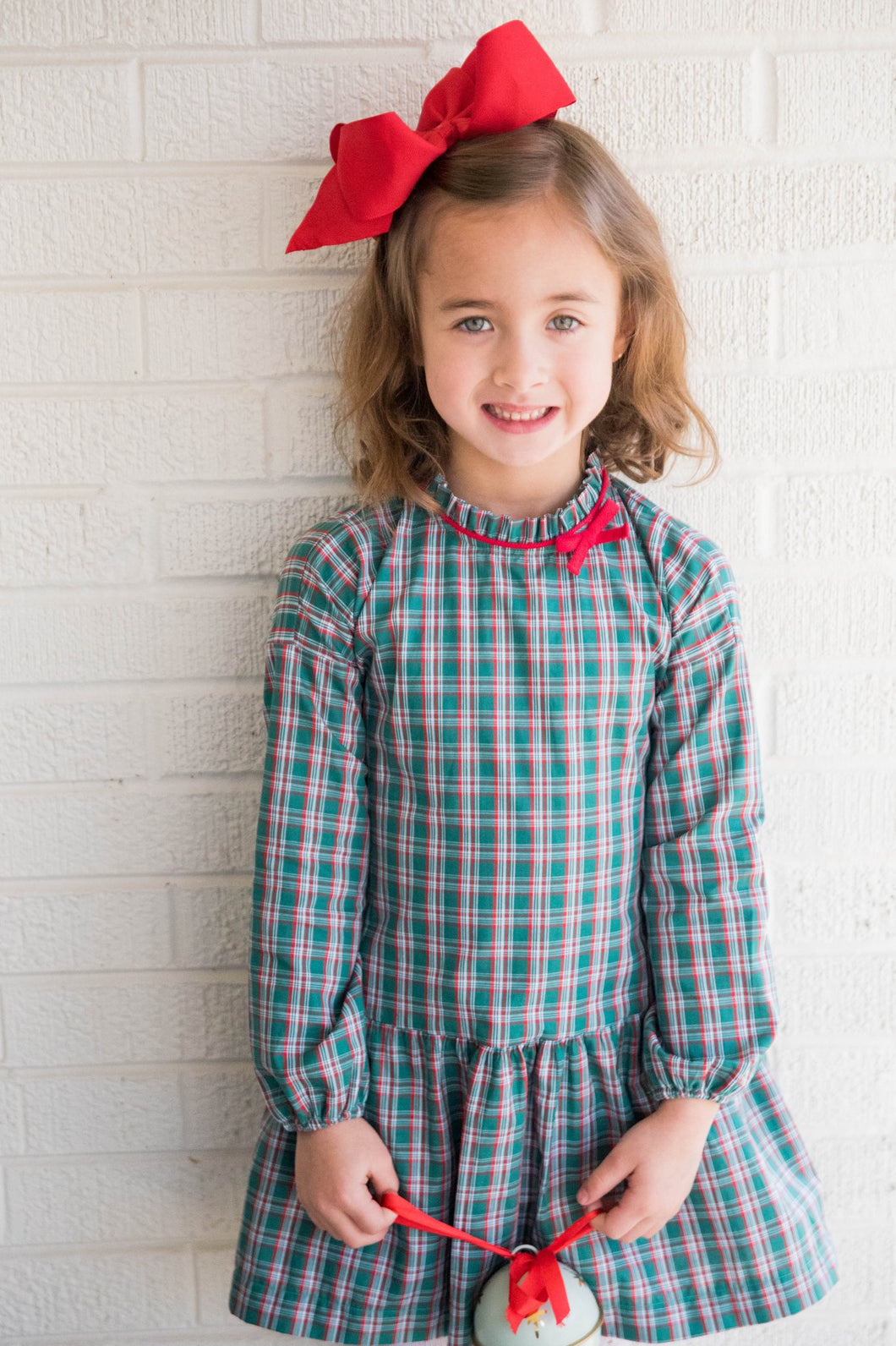Penelope Plaid Long Sleeve Dress // James & Lottie