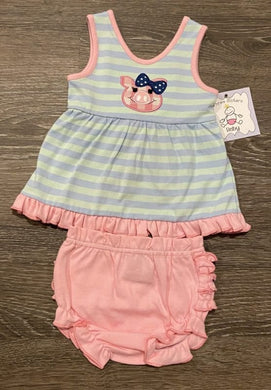 Piggy Applique Bloomer Set