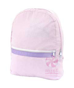 Princess Seersucker Medium Backpack