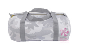 Snow Camo Seersucker Medium Duffel