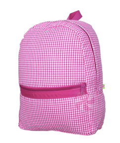Hot Pink Gingham Medium Backpack
