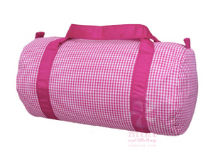 Hot Pink Gingham Medium Duffel