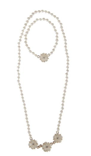 Twirling in Pearls Necklace & Bracelet Set