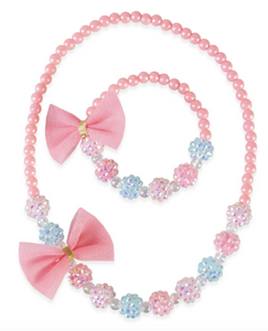 Think Pink Necklace & Bracelet Set